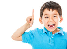 Boy having an idea Royalty Free Stock Photo