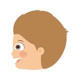 Boy head profile  icon design. Vector illustration  graphic Stock Photo