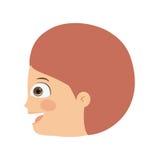 Boy head profile  icon design. Vector illustration  graphic Stock Photography
