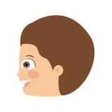 Boy head profile  icon design. Vector illustration  graphic Stock Images