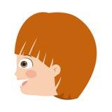 Boy head profile  icon design. Vector illustration  graphic Stock Image
