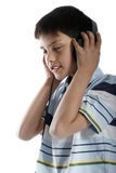 Boy with headphone Royalty Free Stock Image