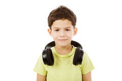Boy with headphones Stock Photos