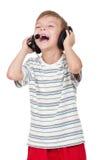 Boy with headphones Stock Photos
