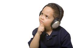Boy with headphones Royalty Free Stock Photo