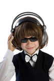 The boy in headphones Royalty Free Stock Images