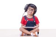 Boy with headphones Stock Photography