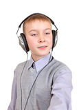 Boy in Headphones Stock Photo