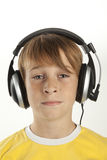 Boy with headphones Royalty Free Stock Photos