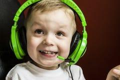 Boy in headphones Stock Photography