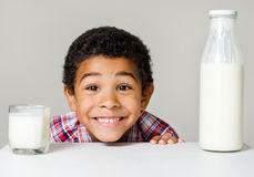 Boy and healthy food Stock Photography