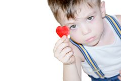 Boy with heart Royalty Free Stock Photos