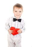 Boy with a heart Royalty Free Stock Photography