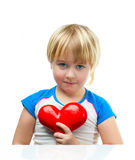 Boy and heart Stock Photos