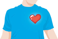 Boy heart beat. Heart beating on a boy chest Stock Photography