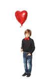Boy with heart in hand Stock Photos