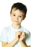 Boy with heart Royalty Free Stock Photo