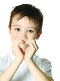 Boy with heart Stock Photography