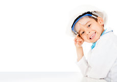 Boy with a helmet Royalty Free Stock Photography
