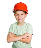 Boy in helmet Royalty Free Stock Photo