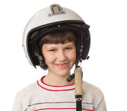 Boy with helmet Royalty Free Stock Photos