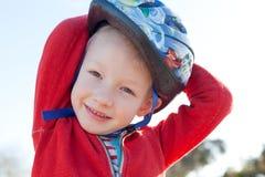 Boy in helmet Stock Photos