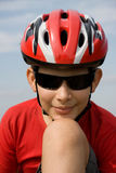 Boy in helmet Stock Images