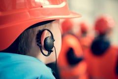 A boy in helmet Stock Images