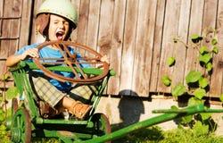 Boy with helmet Stock Photos