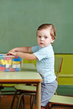 Boy helping to clean up Stock Photography