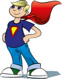 Boy Hero #3. A boy pretends to be a super hero Stock Images