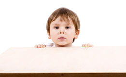 Boy hiding. Royalty Free Stock Photo