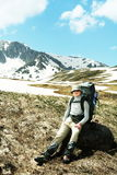 Boy in hike Royalty Free Stock Photo