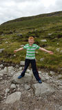 Boy hiking in mournes Stock Photography