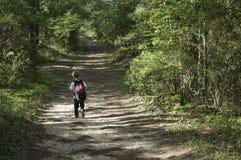 Boy Hiking Stock Photos