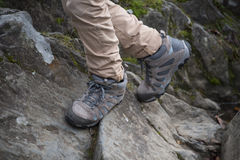 Boy hillwalking Stock Photos