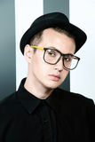 Boy hipster royalty free stock photography