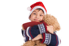 Boy and his bear Royalty Free Stock Photography
