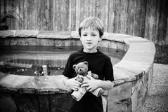 Boy and his bear Stock Photo