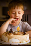 Boy in his birthday Stock Photography