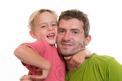 Boy and his daddy together Royalty Free Stock Photography