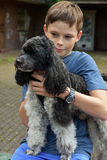Boy and his dog Stock Image