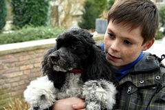 Boy and his dog Royalty Free Stock Photography