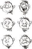 Boy and his faces Stock Photos