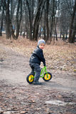 Boy on his first bike Royalty Free Stock Image