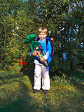 Boy at his first day at school Stock Images