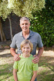 Boy with his Grandfather Royalty Free Stock Photography