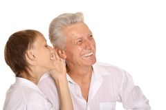 Boy with his grandfather Royalty Free Stock Photo