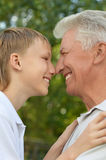 Boy with his grandparent Royalty Free Stock Photo