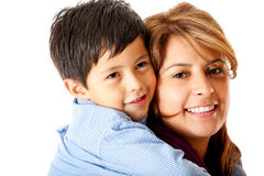 Boy with his mother Royalty Free Stock Photography